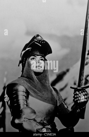Ingrid Bergman in Jeanne d ' Arc an den Pfahl-1954 Stockbild