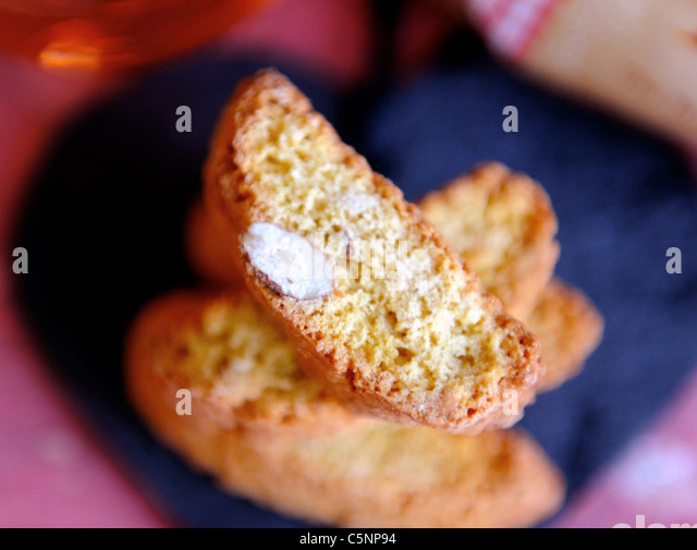 Italienische Mandelgebäck (Cantuccini) Stockbild