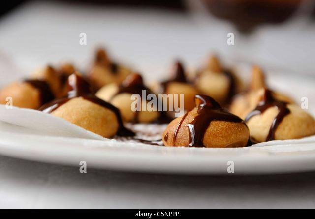 Italienische Cookies (Baci di Dama) Stockbild