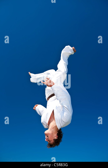 Ein Kampfkünstler Stockbild