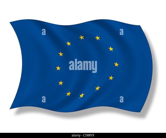 Abbildung, Europaflagge Stockbild