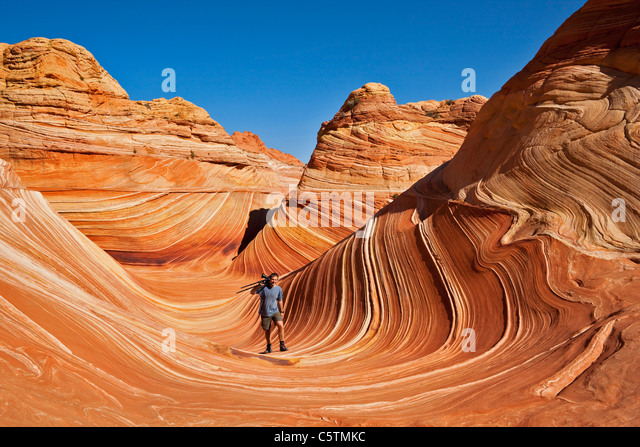 USA, Utah, North Coyote Buttes, Cliffs National Monument Stockbild
