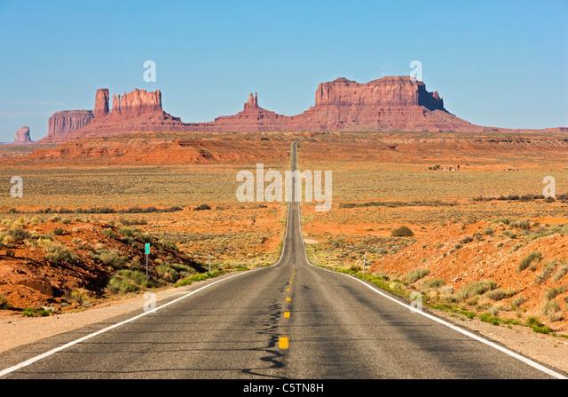 USA, Monument Valley, Utah Highway 163 Stockbild