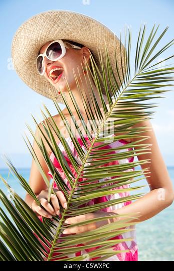Strand Mädchen Stockbild