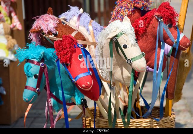 Hobby Pferde, Trakai Burg Trakai, Litauen Stockbild