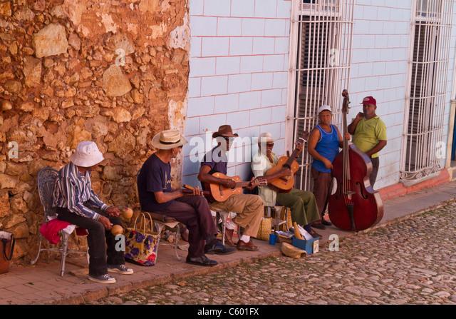 Cuban Street Music in Trinidad, Kuba Stockbild