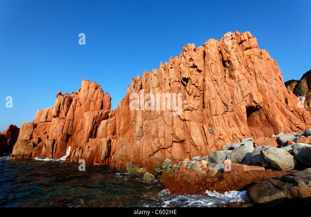 Arbatax-Italien-Sardinien Stockbild