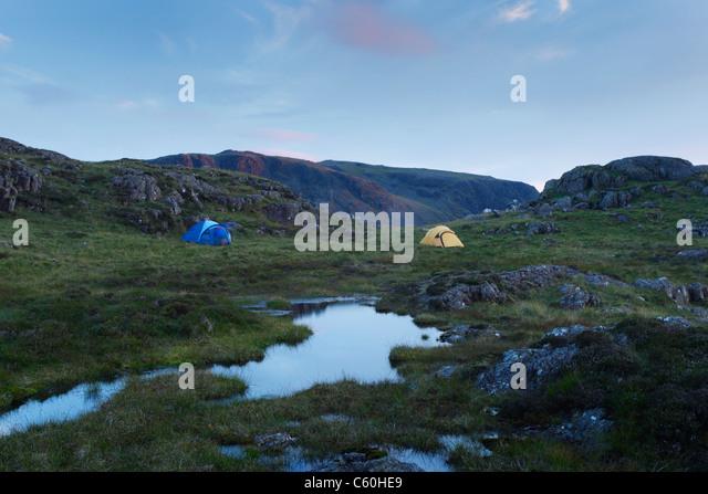 Wildes Campen zur großen Runde. Lake District National Park. Cumbria. England. VEREINIGTES KÖNIGREICH. Stockbild