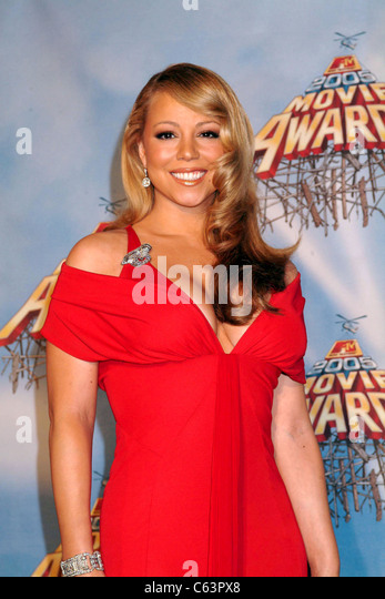 Mariah Carey in der Presse Raum für das Jahr 2005 MTV Movie Awards, The Shrine Auditorium, Los Angeles, Kalifornien, Stockbild