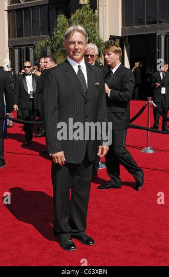 Mark Harmon im Ankunftsbereich für Ankünfte - The 59th Annual Primetime Emmy Awards, The Shrine Auditorium, Stockbild