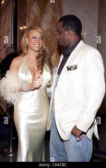 """Mariah Carey, Sean """"P. Diddy"""" Combs bei der Ankunft für die Emanzipation von Mimi Release Party, Stockbild"""