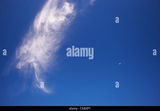 Boot-geformte Wolke Stockbild