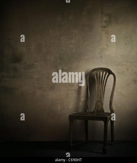 Echtes Foto von klassischer Sessel Stockbild