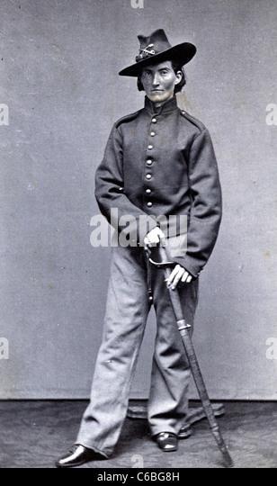 "Frances Clalin Clayton, Frau, sich als Mann ""Jack Williams,"" in dem Bürgerkrieg verkleidet, in Uniform Stockbild"