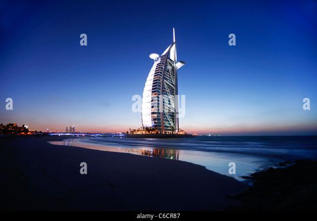 Hotel Burj Al Arab, Dubai, Vereinigte Arabische Emirate Stockbild