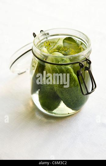 Frischer Dill pickles Stockbild