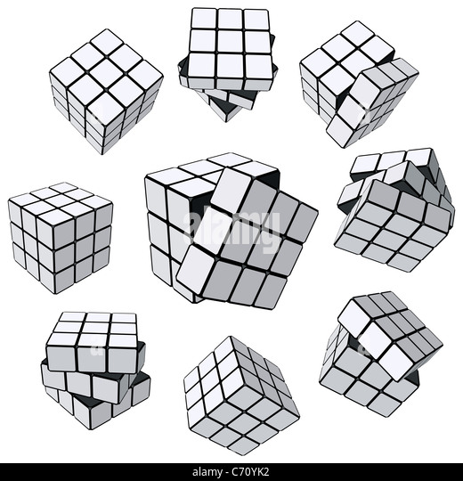Rubiks Cube puzzle Stockbild