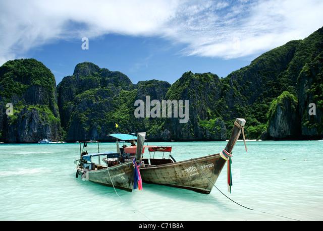 Boote in ko Phi Phi Insel thailand Stockbild