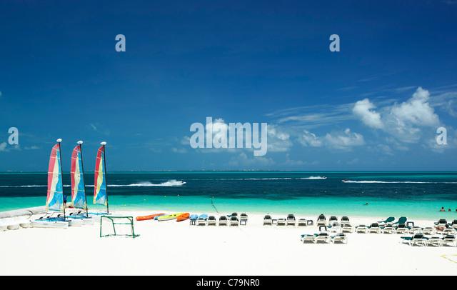 Strand von Cancun Mexiko Stockbild