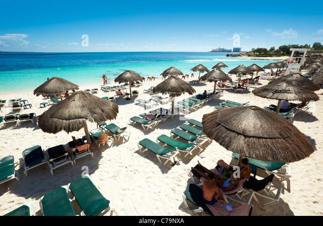 Strand von Cancun Mexiko - Stock-Bilder