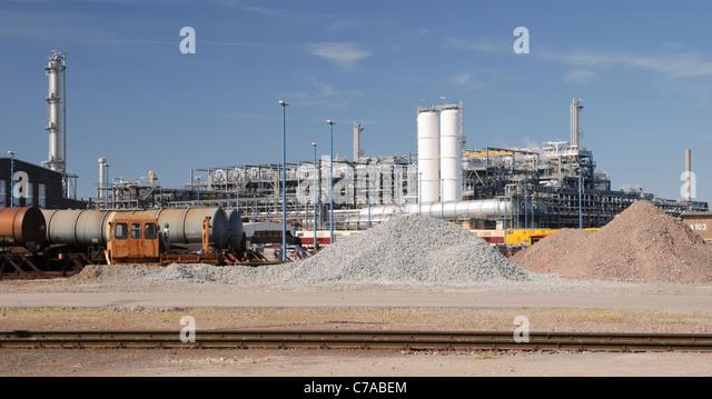 Buna Werke Chemiefabrik, Schkopau, Sachsen-Anhalt, Deutschland, Europa Stockbild