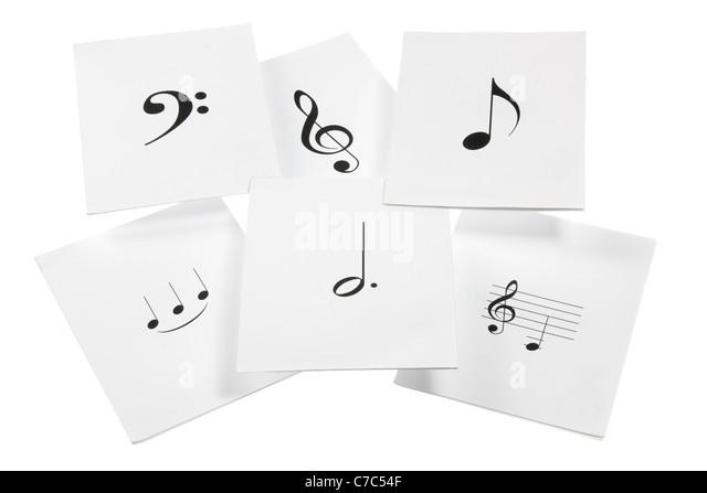 Blätter von Musiknoten Stockbild