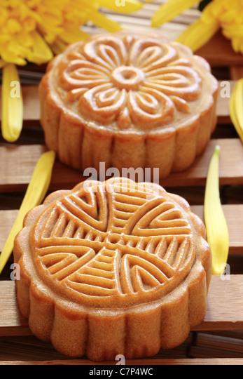 Mooncake für Chinesen Mitte Herbstfest. Stockbild