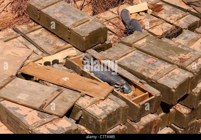 Libyen Tripolis 120mm hochexplosiven Mörtel Col Gaddafi Konflikt Krieg zivilen Gaddafi Stockbild