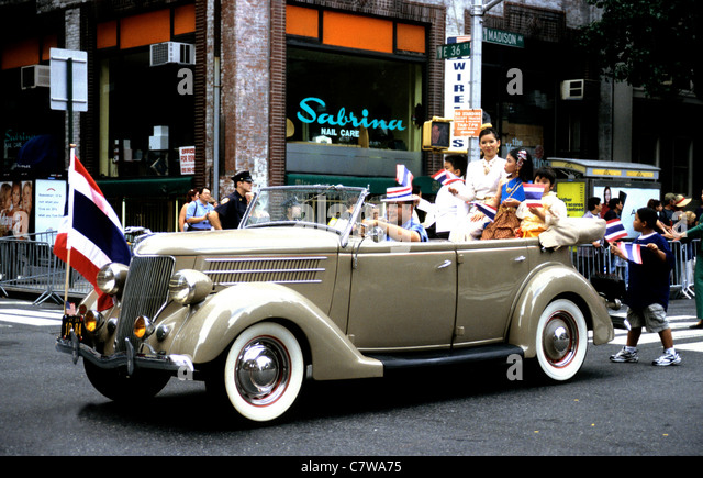 Ford Oldtimer in einer Parade New York-USA Stockbild