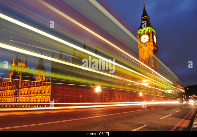 London bei Nacht Stockbild