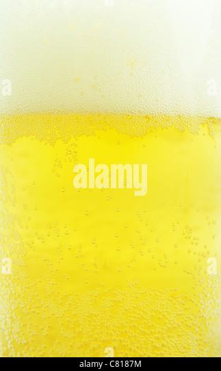 Detail frisches Bier Blasen geeignet als Hintergrund Stockbild