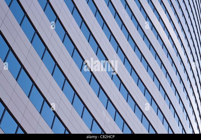 Die Innenstadt von Bürogebäuden konzentrieren sich auf Glasfenster Seattle Washington State USA Stockbild