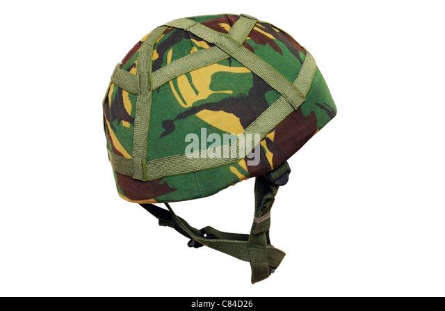 Armee-Helm. Britische Armee Thema MK.6 Kevlar Kampf Helm. Stockbild