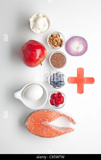 Lebensmittel, die die Heilung für Sportler Stockbild