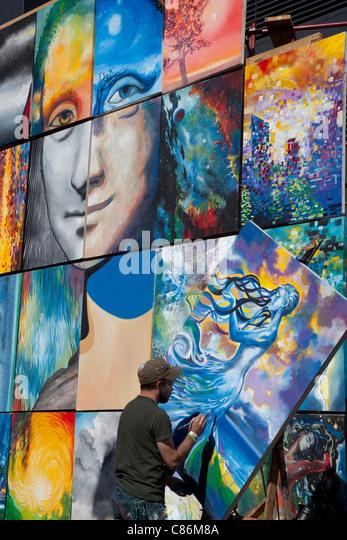 ArtPrize, einen jährlichen Kunstwettbewerb in Grand Rapids, Michigan Stockbild