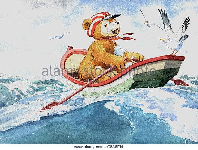 Teddys Seefahrt Schiff Schiffe Versandart Versand Seefahrt Schiff Schiff typ Stockbild