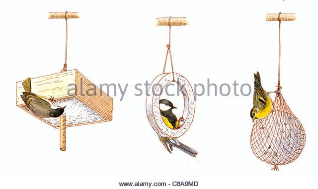 Winterftterung Vogel 2 Stockbild