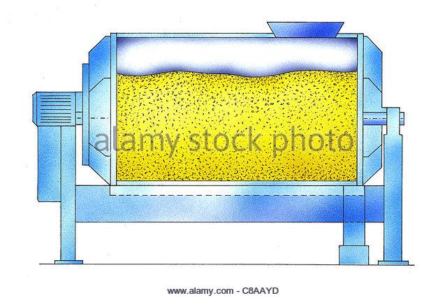 Weinbau weiß Wein Tank-Presse Stockbild