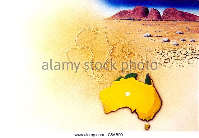 Wstengebiet Australien Stockbild