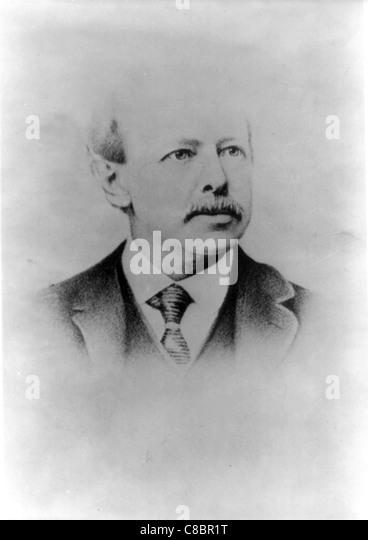 Horatio Alger, Jr. aus dem 19. Jahrhundert amerikanischer Autor Stockbild