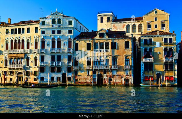 Der Canal Grande-Venedig-Italien Stockbild