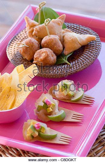 Exotischen aperitifs Stockbild