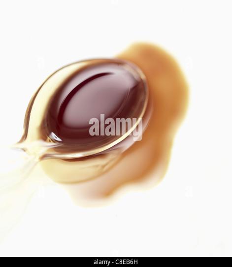 Löffel von Squash Seed oil Stockbild
