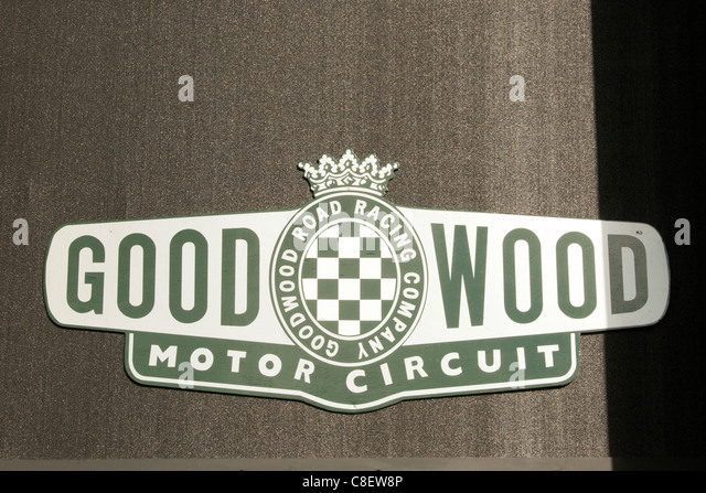Goodwood Motor Racing Circuit Zeichen Stockbild