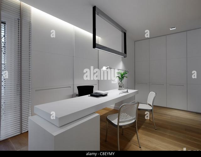 Innenraum einer Bürofläche Stockbild