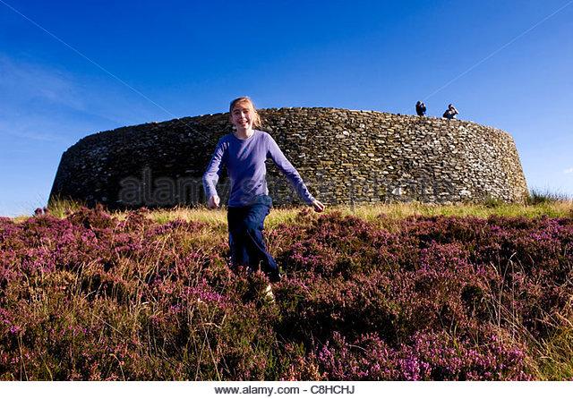 Grianan Aileagh alte Festung in Donegal. Stockbild