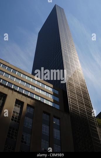 USA. New York. Trump Tower, gebaut im Jahr 1983 von dem amerikanischen Architekten Der Scutt (b.1934). Fifth Avenue. Stockbild