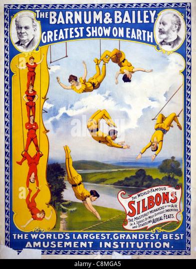 Der Barnum & Bailey greatest zeigen auf der Erde die weltweit größte, größten, beste Unterhaltung Stockbild