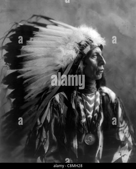 Jack Red Cloud, Indian Chief Stockbild