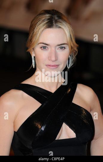 Kate Winslet kommt bei der Revolutionary Road Europäische Premiere im Odeon Leicester Square, London, 18. Januar Stockbild